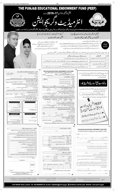 Scholarship in Punjab Education Fund for Pakistan Students