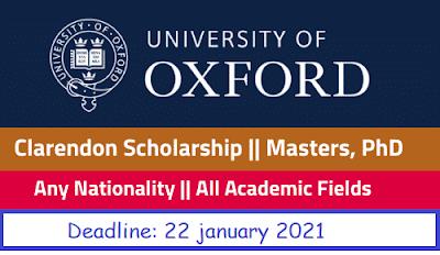 منحة كلاريندون بجامعة أكسفورد بالمملكة المتحدة (ممولة بالكامل)