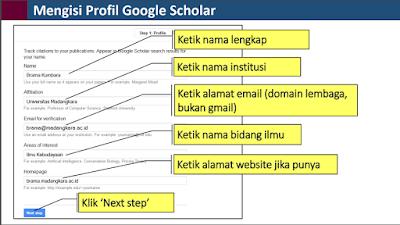 Cara Mengisi Profil Google Scholar