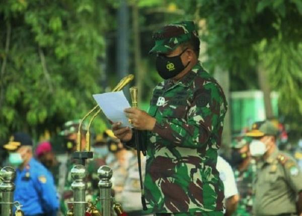 Pangkogabwilhan I Pimpin Apel Kesiapan Pasukan Operasi Lilin 2020 di Kepri