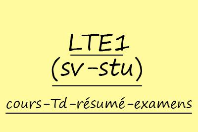 Langue Et Terminologie SVTU Cours // Résumés // Examens