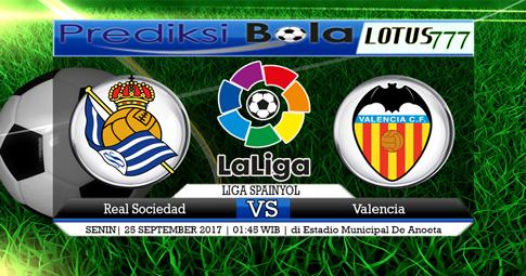 PREDIKSI SKOR Real Sociedad vs Valencia  25 SEPTEMBER 2017