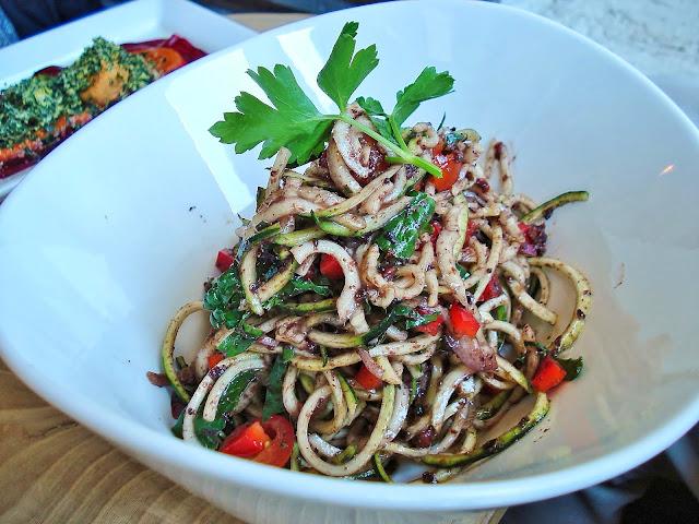 Olive Pasta Special at Raw Aura Restaurant, Port Credit