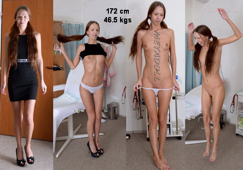 Gyno Clinic - Skinny tall girl with small tits visits doctor for gyno exam (Paris Devine 24 years)