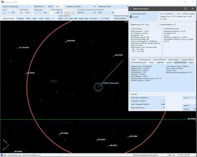 telescope simulation of the comet