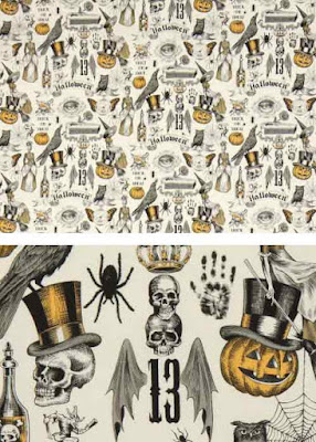 Tattoo flash halloween fabric