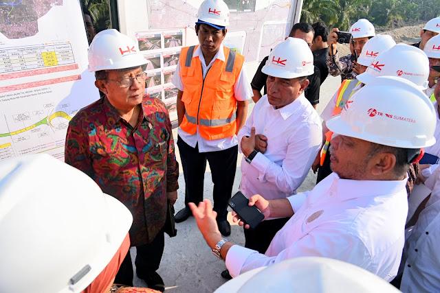 Gubsu Dampingi Menko Ekonomi Tinjau Pembangunan Tol