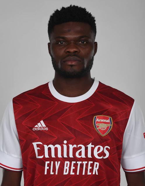 Thomas Partey in Arsenal shirt