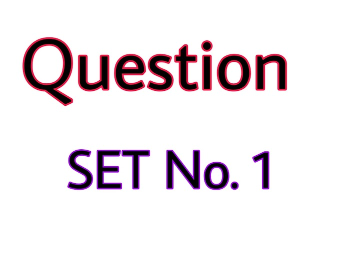 Question set No. 1 For Entrance Preparation Forestry / A.G. / Vet