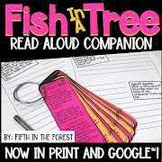 Thumbnail for read aloud companion for Fish in a Tree by Fifth in the Forest on Teachers Pay Teachers