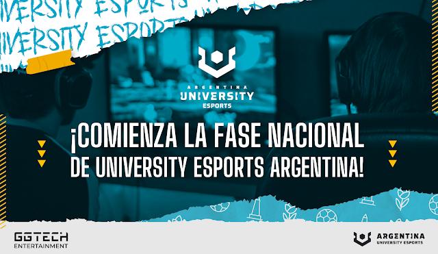 ¡Comienza la Fase Nacional de University Esports Argentina!