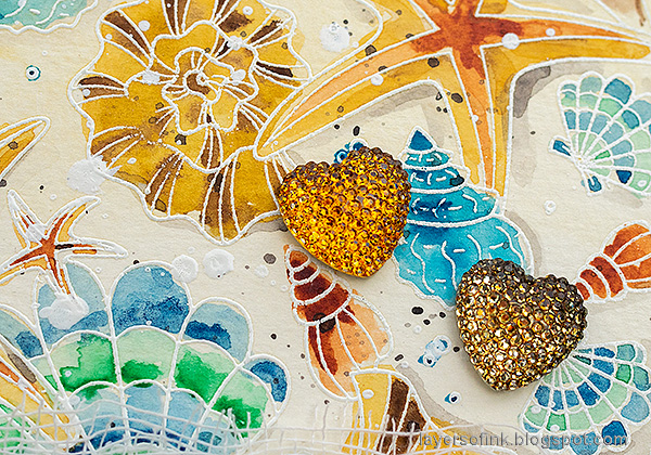 Layers of ink - Watercolor Shells Tutorial by Anna-Karin Evaldsson.