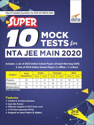 Download Disha NTA JEE Main Super 10 Mock Tests Latest Edition PdfPdf