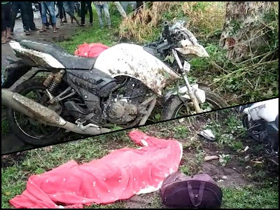 जलगोन फाटे पर आइसर ओर मोटरसायकल की भिड़त में 1 की मौत 1 गंभीर घायल