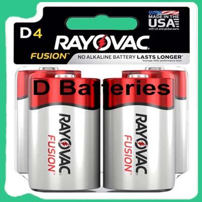 Rayovac Fusion D Batteries