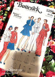 Pattern cover of vintage 1970s Betsey Johnson sewing pattern Butterick 3290