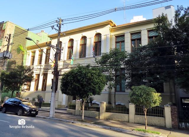 Vista ampla da antiga edificação do tradicional Colégio Benjamin Constant - Vila Mariana - São Paulo