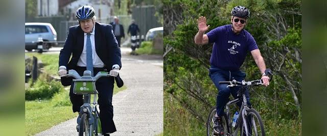 Joe Biden gave Boris Johnson a bicycle worth five lakh Taka