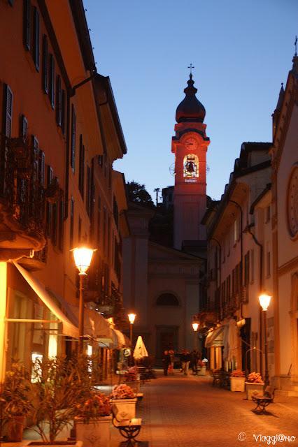 Via Calvi e la Parrocchiale di Santo Stefano a Menaggio