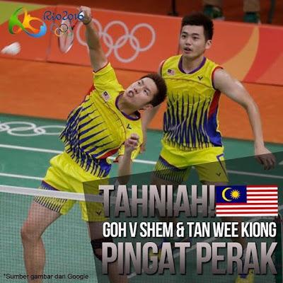 Olimpik Rio 2016 pemenang pingat untuk Malaysia