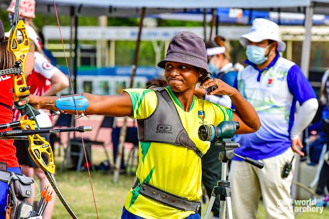 Ane Marcelle em disputa no Pre-Olímpico e Pan-Americano de Tiro com Arco