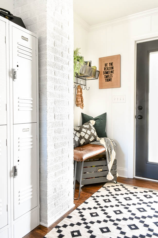 Shop your home, vintage modern mudroom decor