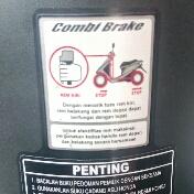 Kelebihan rem combi brake system motor
