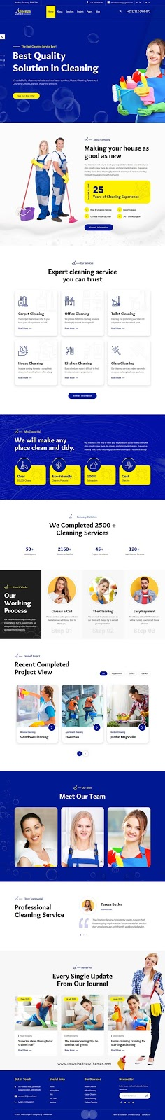 Best Cleaning Service Website Template