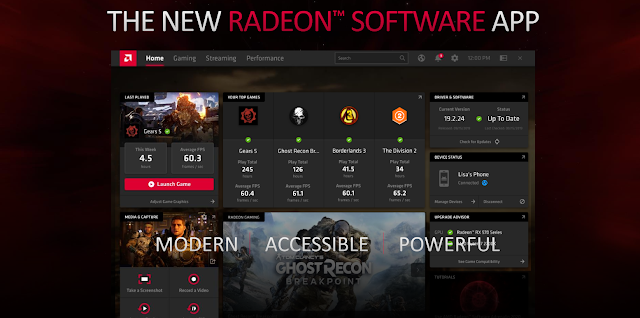 New design of Radeon Software UI