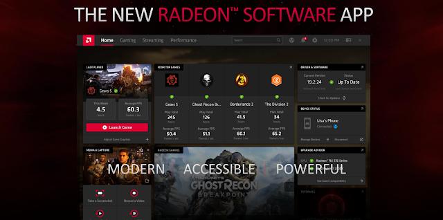 New design of Radeon Software UI