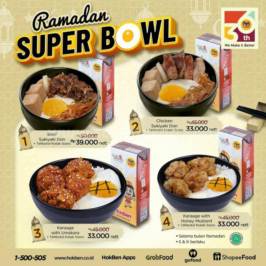 HOKBEN Promo Super Bowl Ramadan harga mulai Rp 33 Ribu