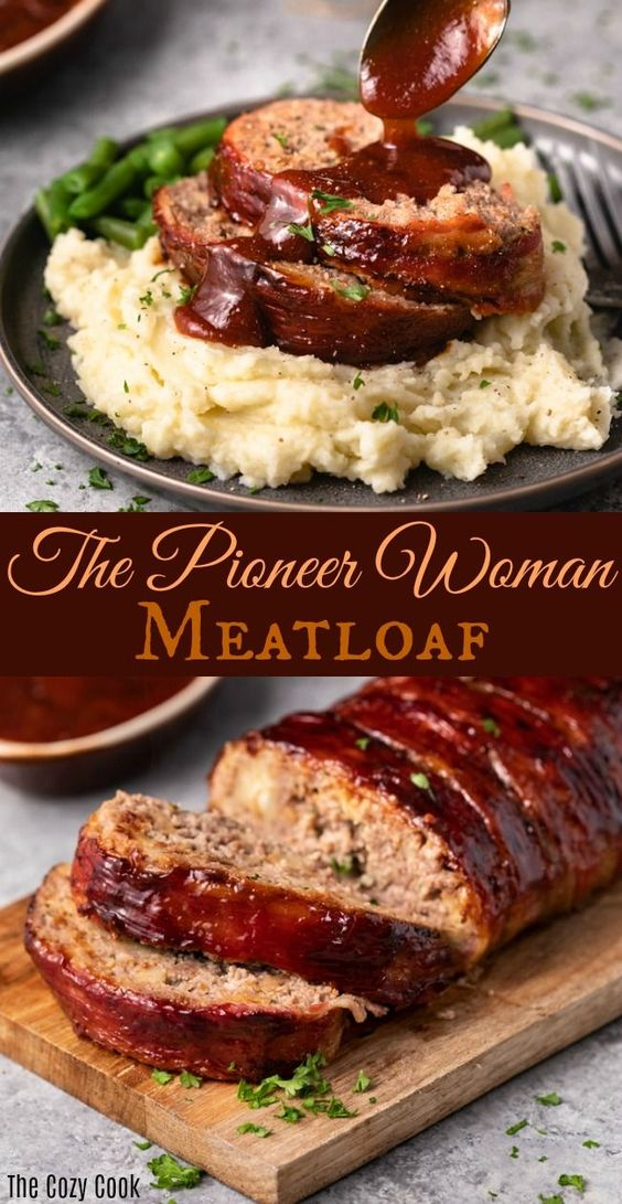 The Pioneer Woman Meatloaf #Pioneer #Woman #Meatlof #Beff #Dinner #Easydinner #Healthydinner #Bestdinner #Deleciousrecipe #Ommasakom #Werecipe