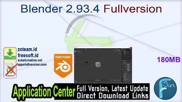 Blender 2.93.4 Fullversion