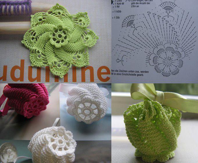 Flores Espirales Crochet