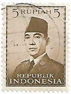 Selo Presidente Sukarno, 5 Rupias