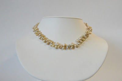 strung pearl necklace dancing side drilled crazy pearls yellow gold necklace spring handmade
