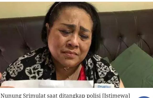 """Terlibat Narkoba, Nunung"""" Ditangkap, Polisi"""