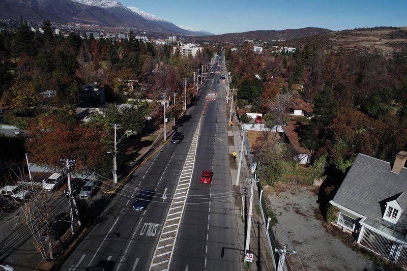 Lo Barnechea construye los primeros 6,2 kilómetros de ciclovías en 2020