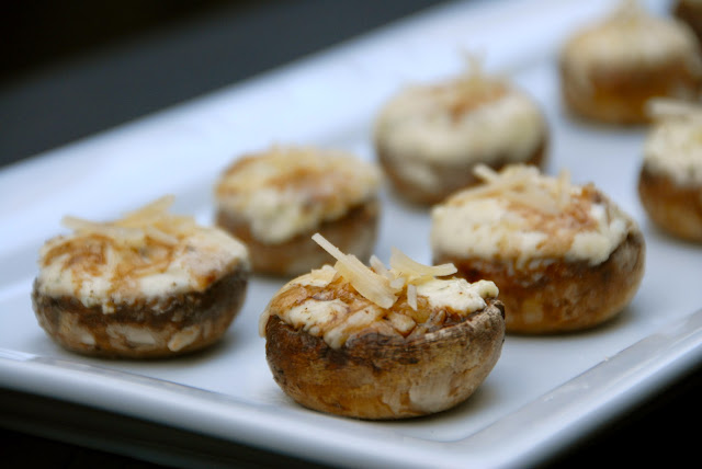 boursin cheese stuffed button mushrooms