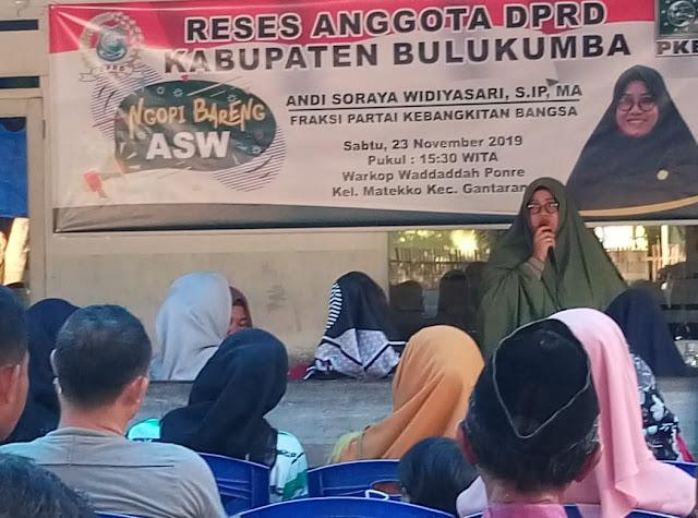 Anggota DPRD Bulukumba Reses, Andi Soraya Serap Aspirasi Warga Gantarang