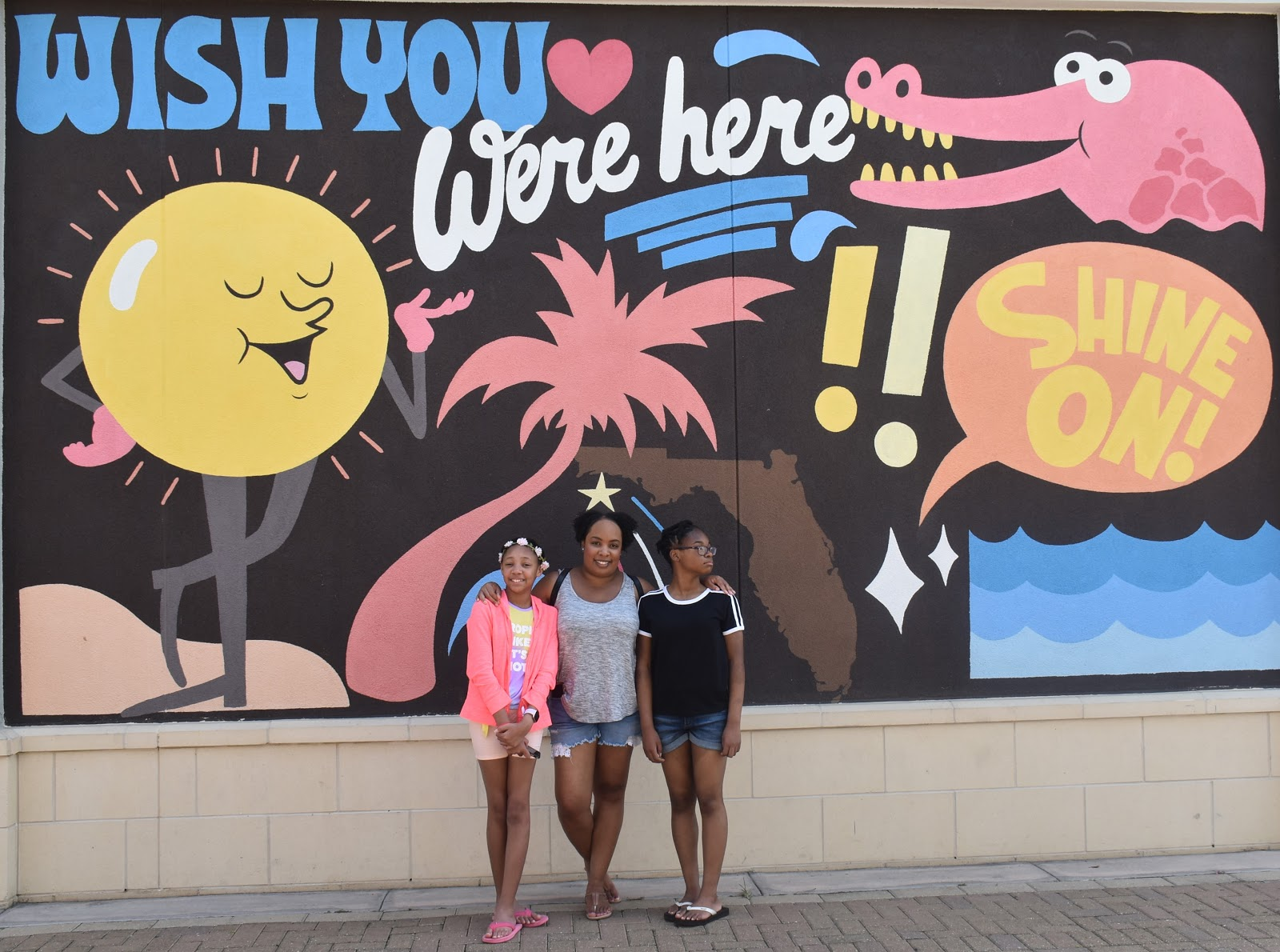 Wish You Were Here Mural in Destin Florida