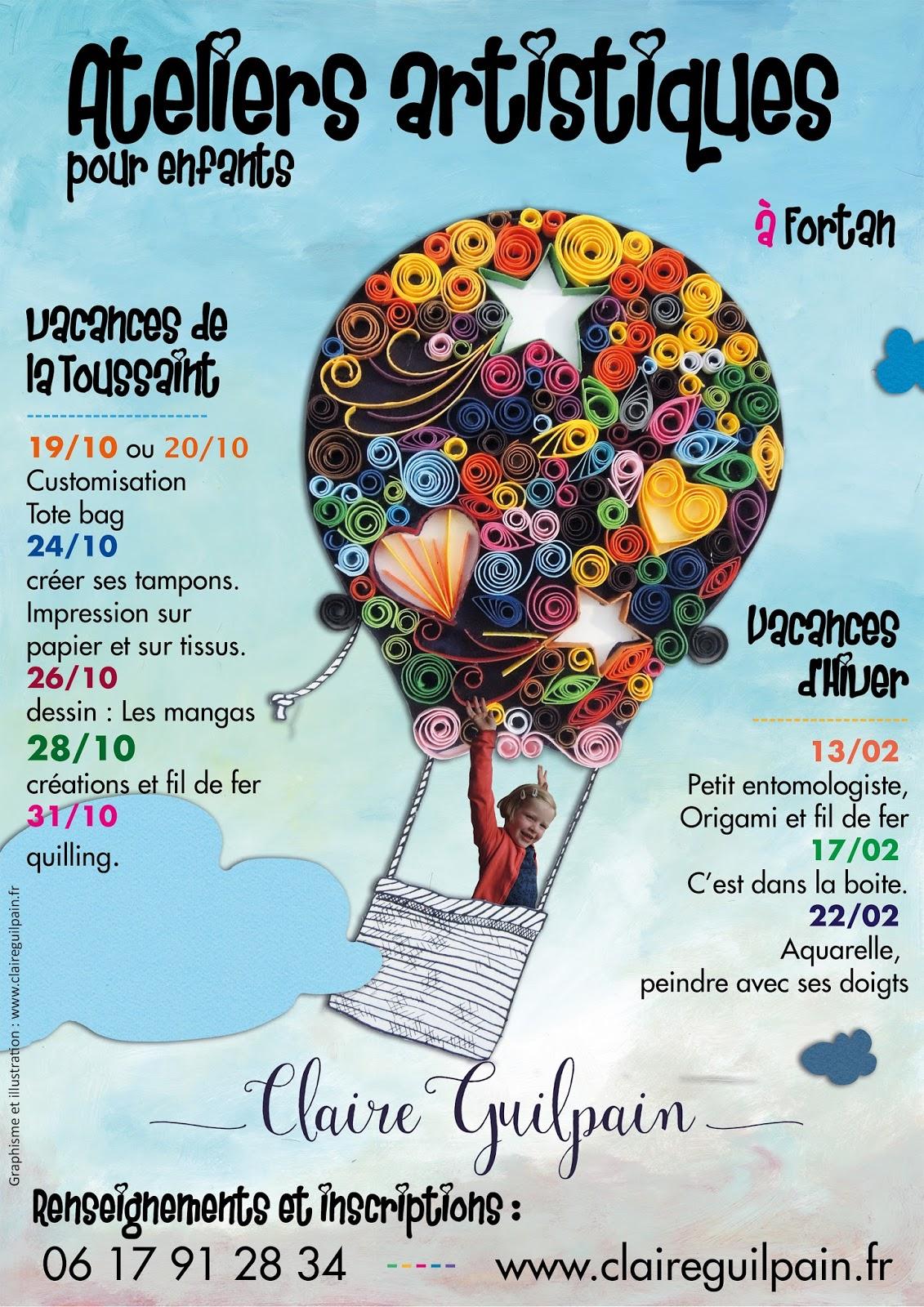L 39 atelier de yuna vacances de la toussaint et vacances d 39 hiver programme pour les enfants - Vacances de la toussaint 2016 ...