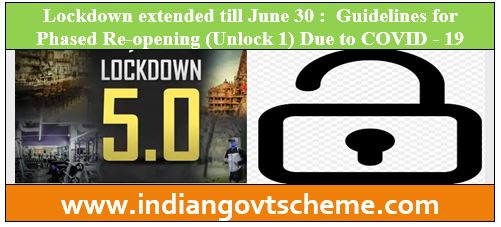 Lockdown extended till June 30