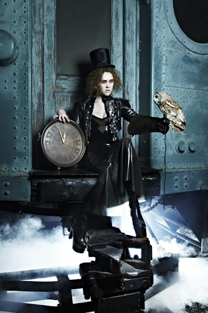 ANTM train owl steampunk fashion steampunk clothing