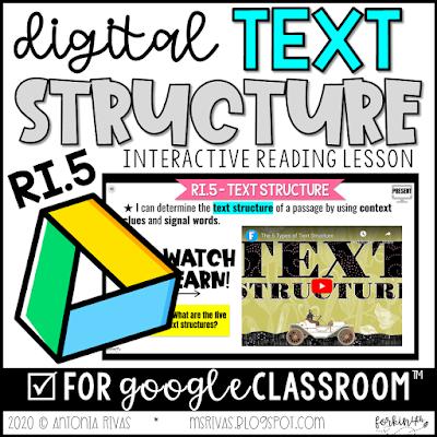 digital text structure lesson