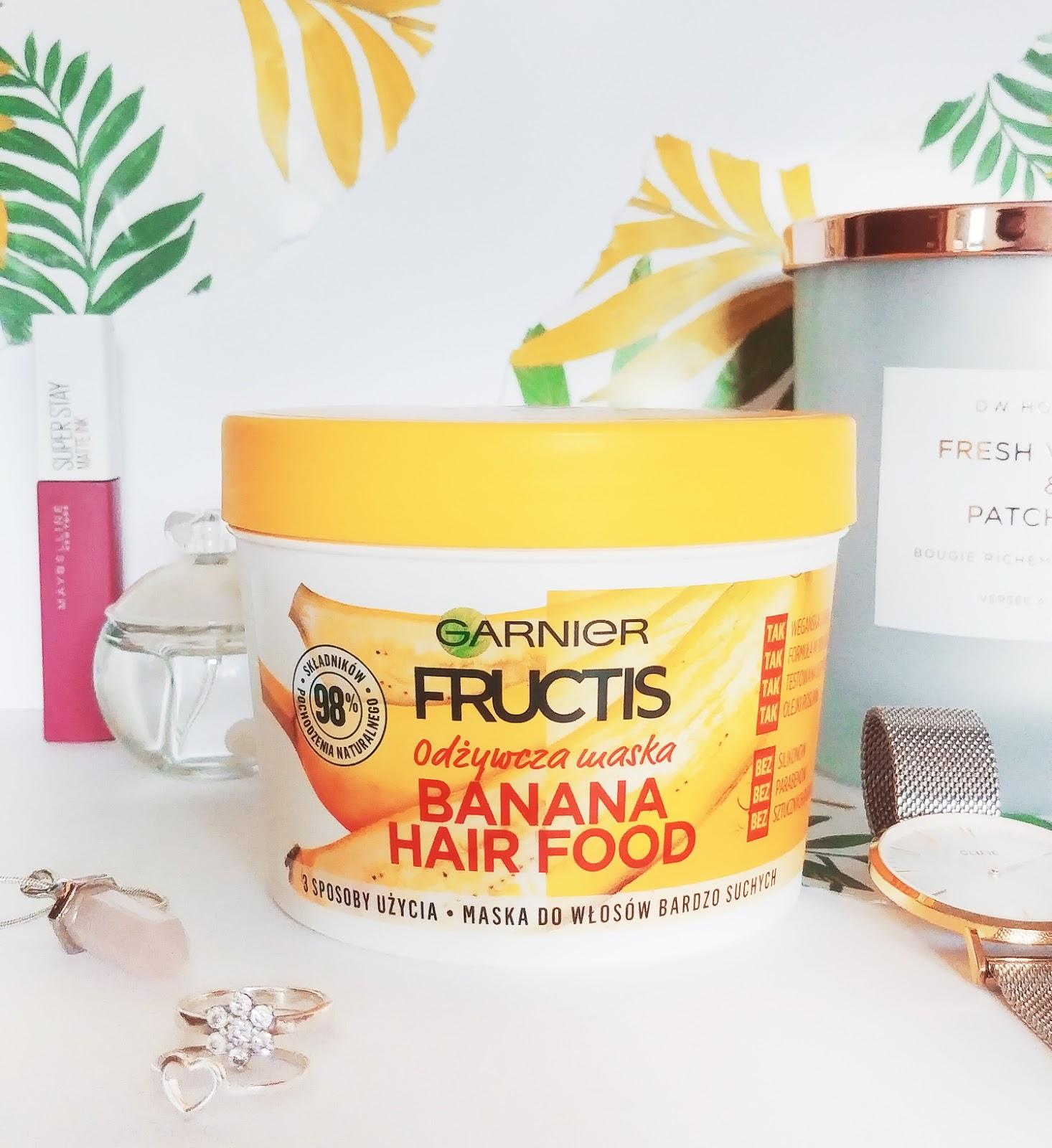 Garnier Fructis odżywcza maska Banana Hair Food