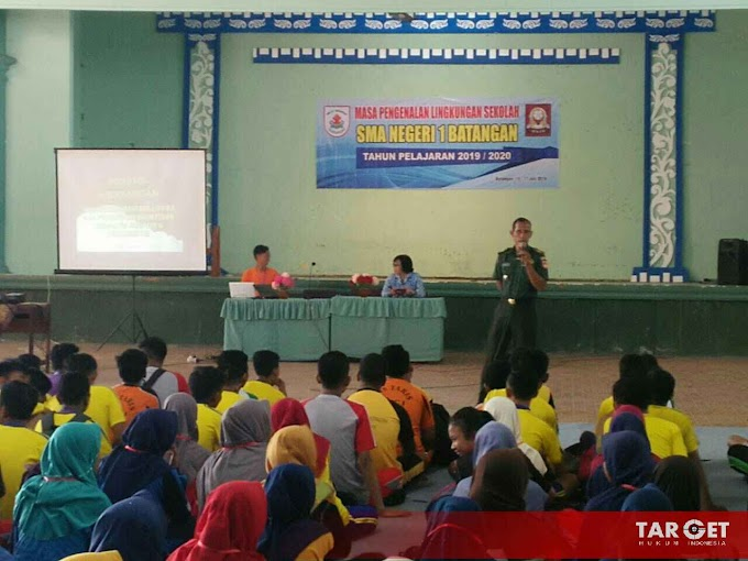 Koramil Batangan Berikan Materi Wasbang Serta Out Bond dan PBB Pada Siswa Baru SMAN 01 Batangan