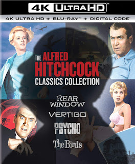 "Vault Master's Pick of the Week for 09/08/2020 is Universals 4K Ultra HD ""The Alfred Hitchcock Classics Collection!"""