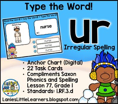 Combination ur (Bossy r): Read It! Say It! Type It!