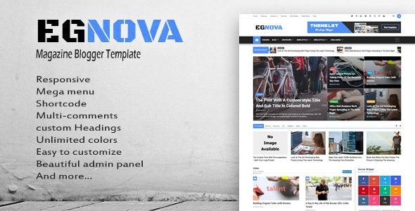 Egnova - News & Magazine Responsive Blogger Template